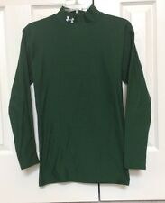 Mens Under Armour Cold Gear Compression Shirt Mock Turtleneck Dark Green Large
