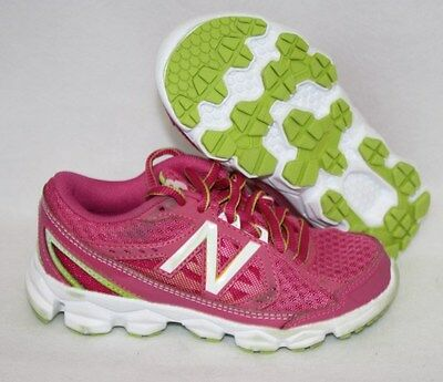 NEW Kids new balance white Sneakers Girls Shoes Youth Size w inserts KC640W