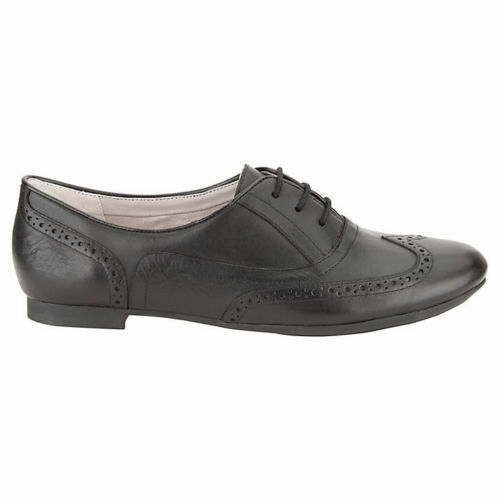 Trick Up Fitting Black Shoes Leather Clarks Ladies D Brogue Carousel Lace wvYRPqqEx
