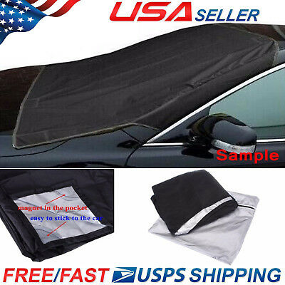 Magnet Car Windshield Cover Sun Shade Protector Winter Dust Frost Freeze  Guard | eBay