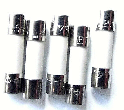 FUSIBILE 1.25a 20mm LBC Anti Sovratensione T1.25A L 250v ritardo x10pcs