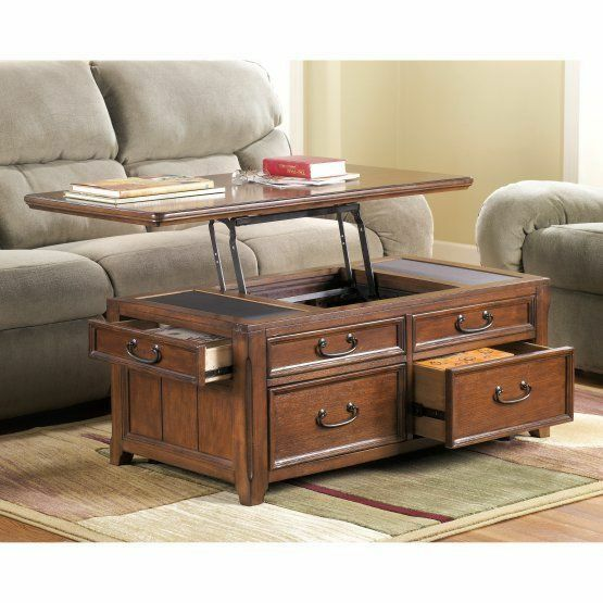 Lift Top Chest Coffee Table 4