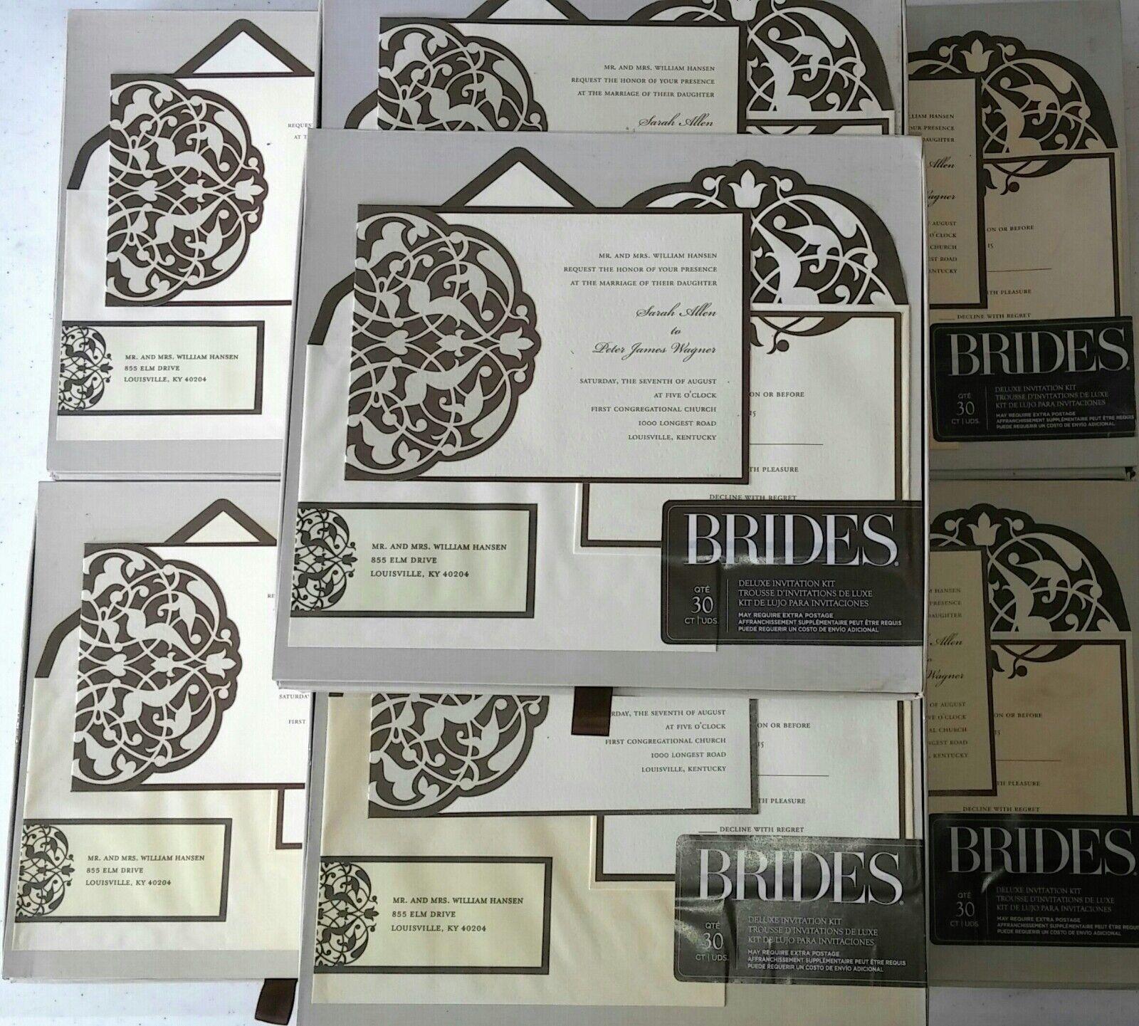 New BRIDES Deluxe Invitation Kit marron Ivy Flourish 150 Pieces wedding.. 5 Boxes