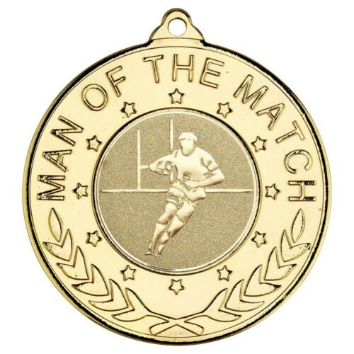 Free Ribbon /& Engraving Rugby Awards Man of the Match Medals