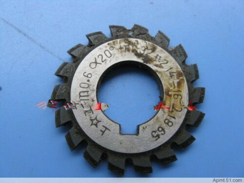 1PC Module 0.6 PA20 Bore16 1#2#3#4#5#6#7#8# Involute Gear Cutters M0.6