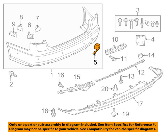 AUDI OEM 12-15 A6 Quattro Rear Bumper-Tow Hook Eye Cap Cover 4G5807441AGRU