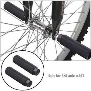 """BMX Bike Pegs Anti Skid Footrest Lever Cylinder Mountain Cycling Rear Stunt 3//8/"""""""
