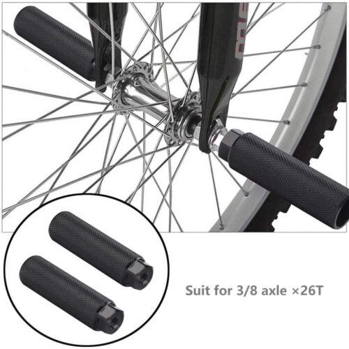 Details about  /2X MTB BMX Bike Alloy Foot Stunt Peg Footrest Lever Cylinder Grip Fit 3//8/'/' Axle