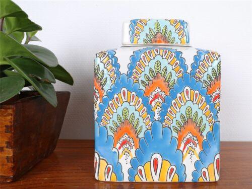 Vase Porzellan Deckelvase Ingwergefäß Ginger Jar China 21cm P0138