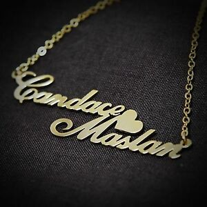 Personalized jewelry double love couples name necklace for Cheap gold jewelry near me
