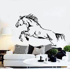 Wall Stickers Vinyl Decal Wild Mustang Jump Horse Racing Big Stallion (EM334)