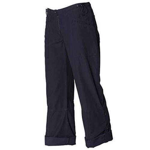 ladies walking hiking camping utility roll leg holiday trousers BLACK NEW