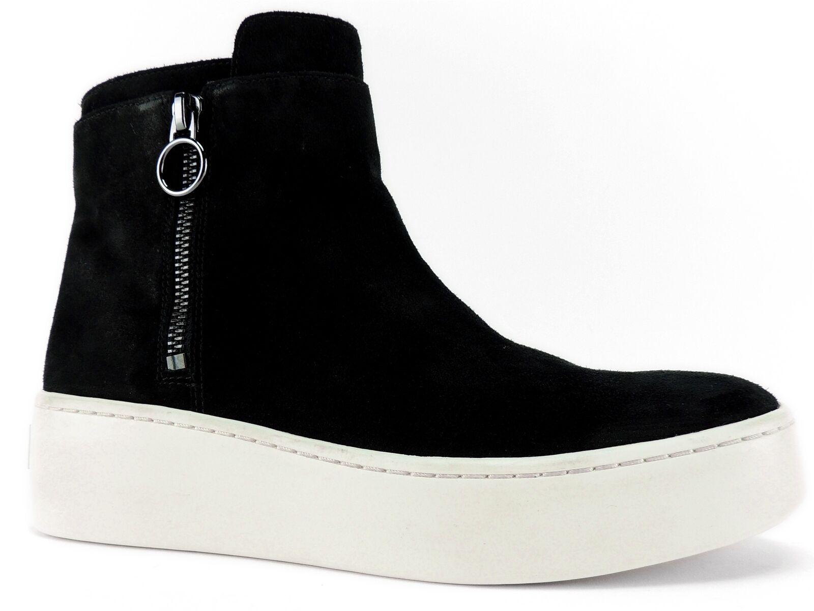 Via Spiga Women's Easton High Top Platform Sneakers Black Suede Size 5.5 M