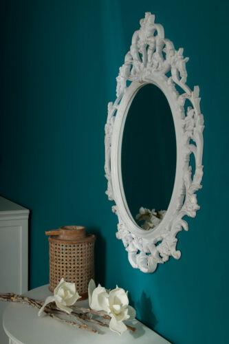 Baroque Miroir Mural Blanc 84x58 cm-décoration salle de bain suspendu Miroir flurspiegel Antik