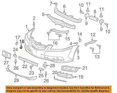 Acura Honda Oem 04 08 Tl Front Bumper Plug 71146sepa00zd Ebay