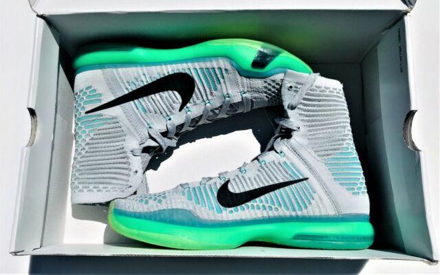 266f735b2ff14 Nike Kobe X 10 Elite High Elevate Wolf Grey Retro Green 718763-041 Sz 8