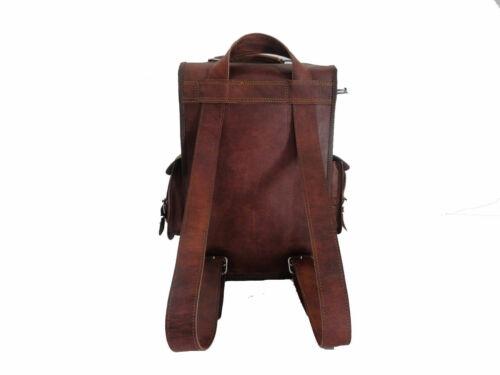 Men/'s 2-in-1 Backpack Rucksack Satchel Genuine Leather Laptop Bag Messenger Bag