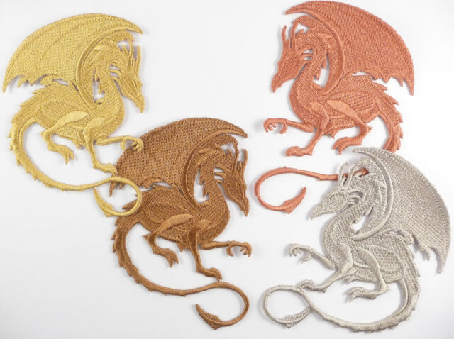 Embroidered Dragon Motif / Patch / Badge / Applique- Lots Of Colours My Khaleesi