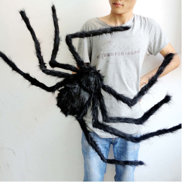 Halloween Spiders Prop House Bar Party Decoration Thrilling Plush Spider Araneid