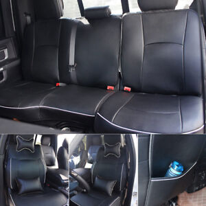 Phenomenal Details About Car Seat Cover Leather Front Rear Full Set For Dodge Ram1500 2500 2009 2017 Lamtechconsult Wood Chair Design Ideas Lamtechconsultcom