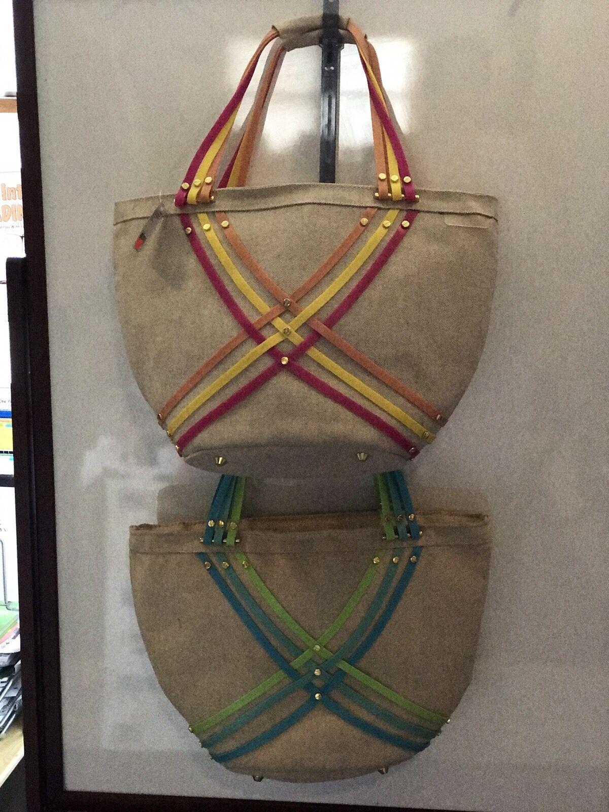 Green Pink//Yellow  NWT msrp $49 Crocs Huarache Large Summer Tote Bag Blue
