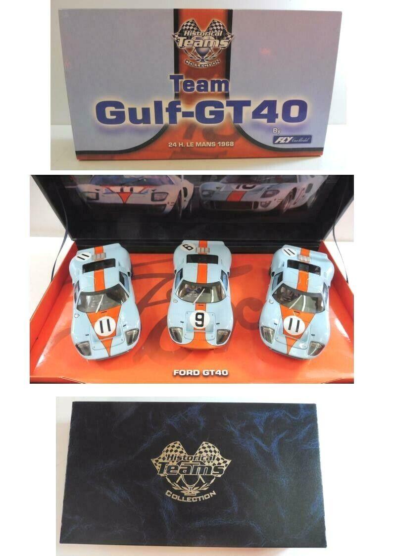 Scatola Ford GT40  Gulf  Mans 1968 1 32 Slot Car Occasione Originale