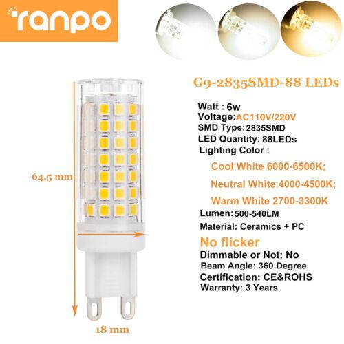 G9 LED Silicone Crystal Corn Light Bulbs 3W 4W 5W 6W 110V Bright DIY Lamp ST288