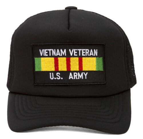 Military Patch Adjustable Trucker Hats Vietnam Veteran US Army