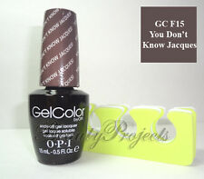 OPI GelColor You Don't Know Jacques GC F15 Soak Off LED/UV Polish .5oz + BONUS