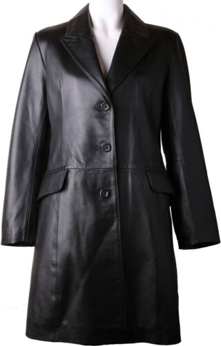 Jacket Leather Coat 1y 10' Womens Quarter Genuine 3 Black Real Length 'size nqOqpT