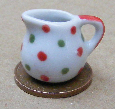 1:12 Scale 4 Yellow Patterned Ceramic Mugs Tumdee Dolls House Miniature W