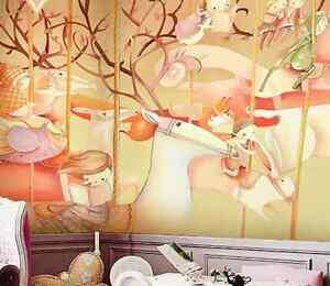 3d Fleur Cheval 65 Photo Papier Peint En Autocollant Murale Plafond Chambre Art