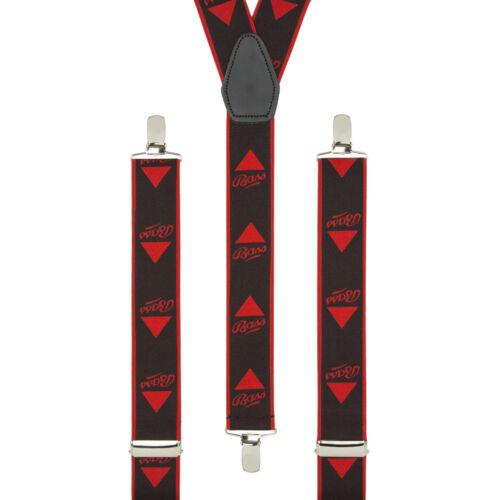 Bass Brewery Novelty Black Red Clip On Adjustable Braces Elastic Suspenders UK