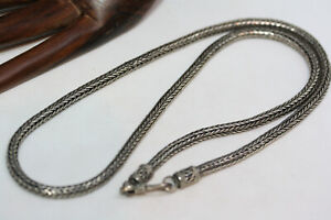 Sterling-Silver-Real-925-Snake-Chain-Men-039-s-Women-039-s-Ladies-Necklace-20-034-4-MM-Wide