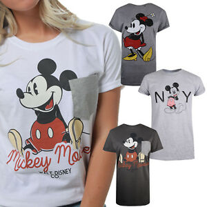 Disney-Mickey-Mouse-Collection-Ladies-T-shirt-Size-S-M-L-XL