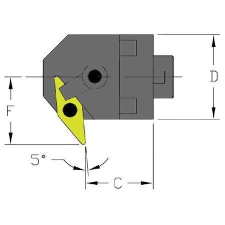 ULTRA-DEX USA MH20 MVXNR3-CFT Boring Bar,MH20 MVXNR3-CFT