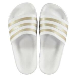 90ebb1a5f0b0 Ladies Girls Adidas Sliders Sandals Shoes Slip Ons Sports Beach Pool ...