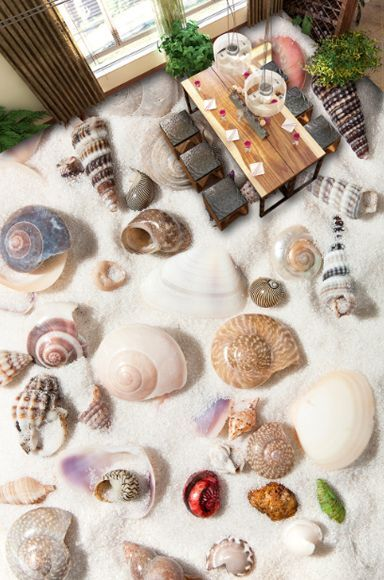 3D beach shell sand 4460 Floor WallPaper Murals Wall Print Decal 5D AJ WALLPAPER