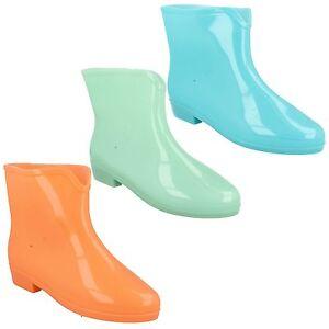 Donna-X1197-pioggia-impermeabile-caviglia-stivali-di-gomma-Wellington-stivali