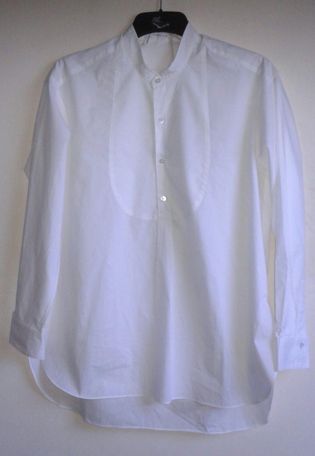 10 Crosby Derek Lam White Long Sleeve Tuxedo Shirt - XL