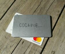 METAL CARD Stag Hen Do Cocaine Drugs Birthday Party Gifts for Him Her Men NYE