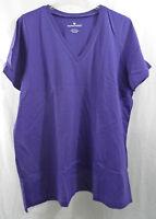 Women's Plus Size Perfect V Neck T Shirt In Grape In 18/20 (l) Nip