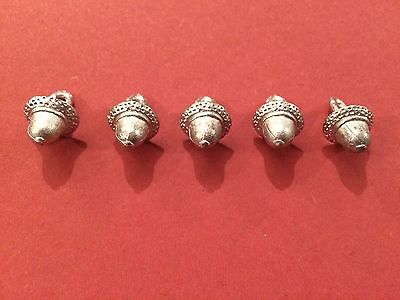 - Re-Enactment 5 Pack Costume C17th /'Acorn/' Pewter Buttons S Living History