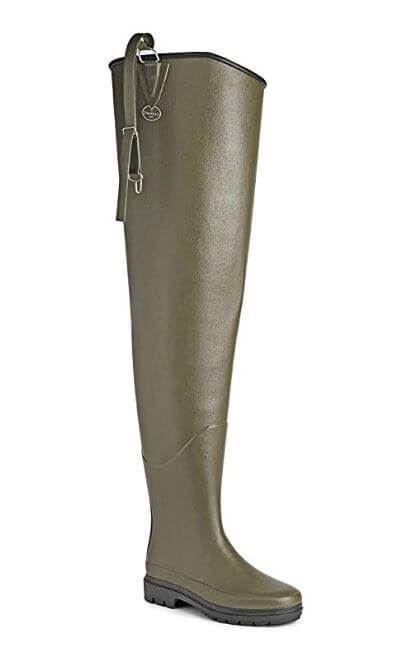 Le Chameau Delta Hip botas, verde Marrón