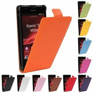 online store 3cfea a7aff Details about For Sony Xperia SP M35H Good Genuine Leather Flip Case Open  Up Protector Cover