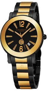 a49039fd317 Charriol Men s Parisi Black Stainless Steel Swiss Quartz Watch ...