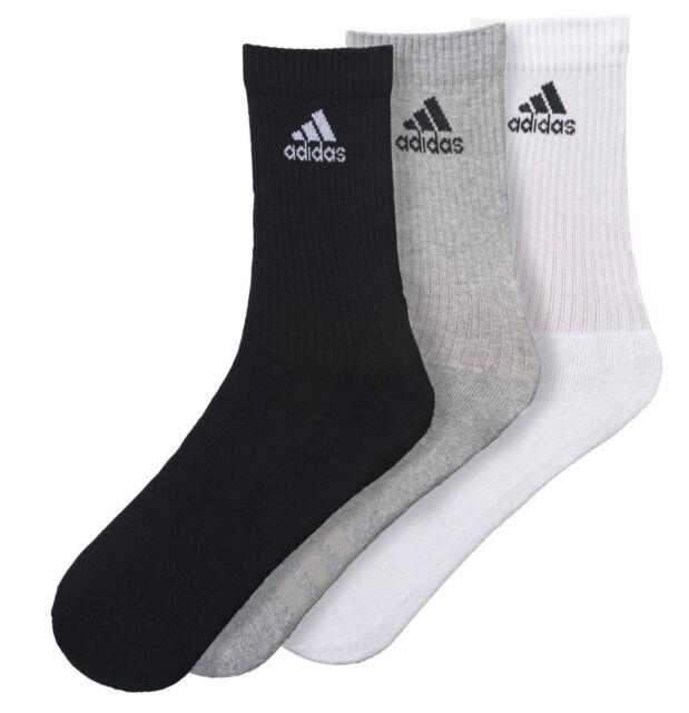 Adidas Calzini Corsa Uomo Donna 3-stripes 3 Paia Workout Palestra  Allenamento