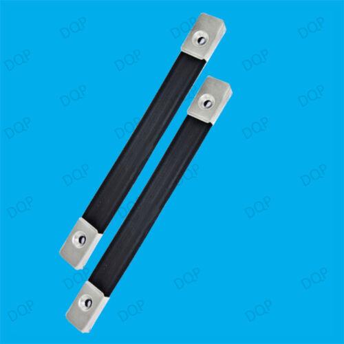1x forte 185mm en nylon noir bagages sangle métal fin fixation cas de levage poignée