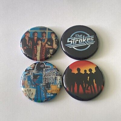 """Halsey 1.25/"""" Manic Buttons Pins Set Of 4 New"""
