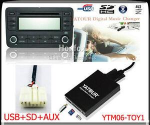Yatour-Digital-CD-Changer-USB-SD-AUX-adapter-for-Toyota-5-7-Big-Lexus-Scion-BT